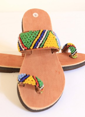 Beaded Sandles-Traditional Zulu Foot Wear by Retail Bliss