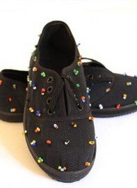 Beaded Takkies-Traditional Zulu Foot Wear by Retail Bliss