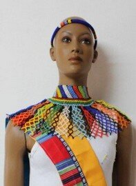 Beaded Necklace by Retail Bliss-Traditional Zulu Beadwork